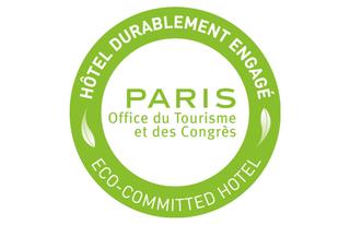 Logo-hôtel-durablement-engagé Paris -©-OTCP
