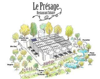 Le Présage - Restaurant solaire Le Presage - Dessin du restaurant - Olivier Nattes
