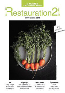 Restauration21 - Le magazine de la restauration durable